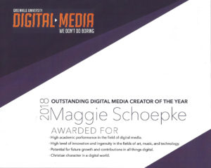 Outstanding Digital Media Award